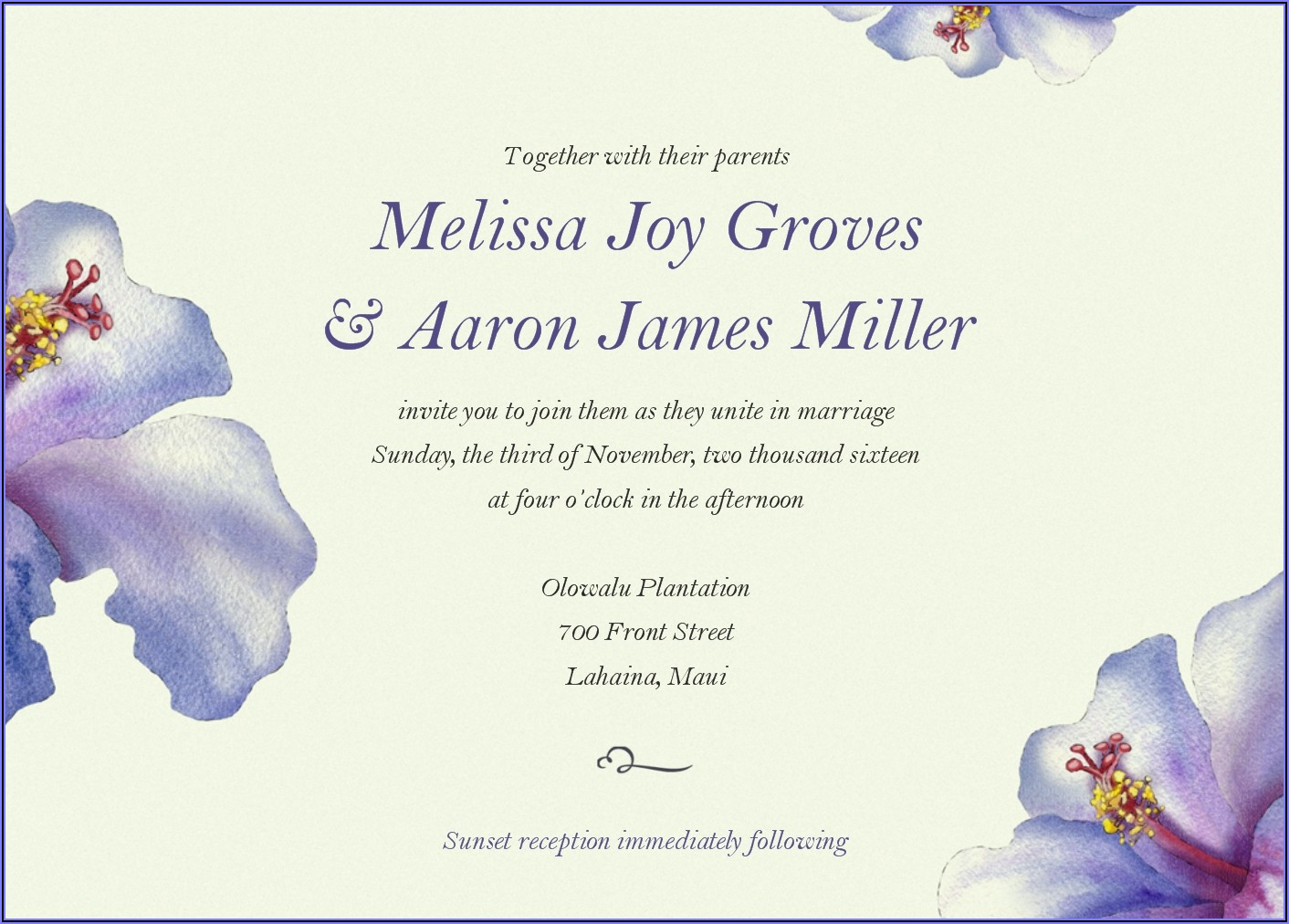 Unique Wedding Invitation Mail To Colleagues
