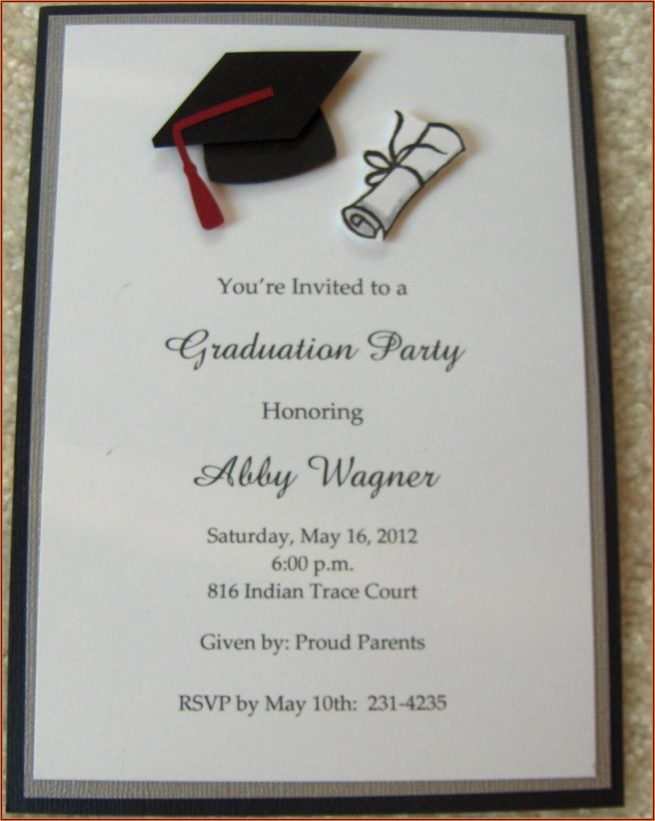 University Graduation Invitation Templates