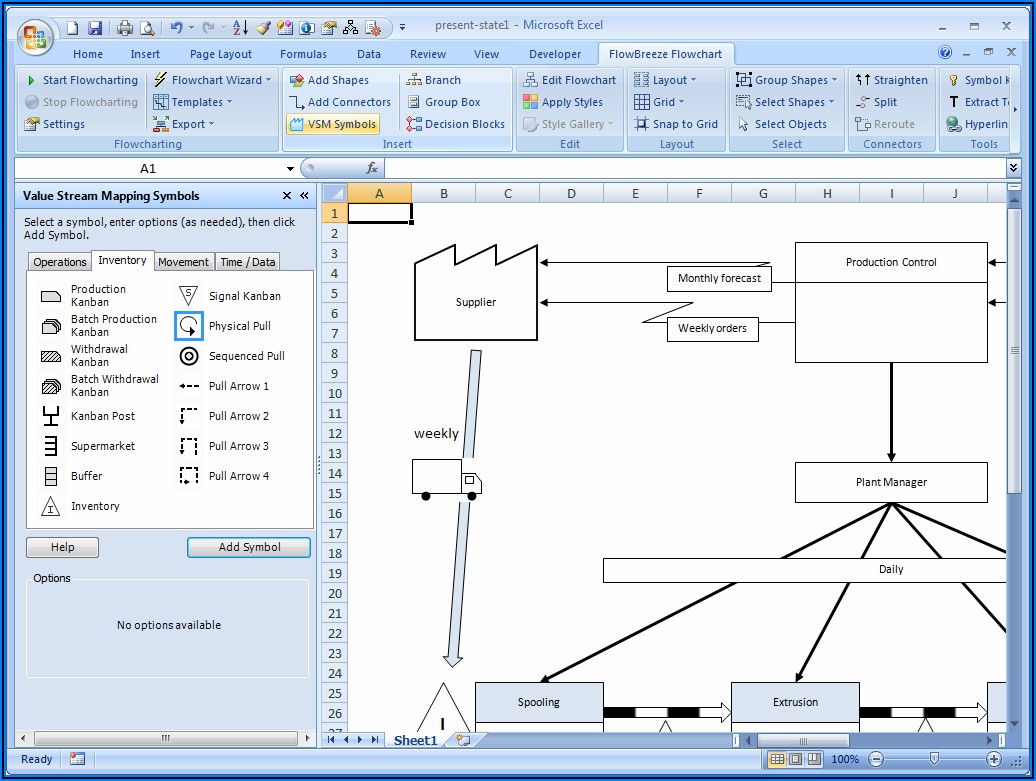 Value Stream Map Template Excel Free