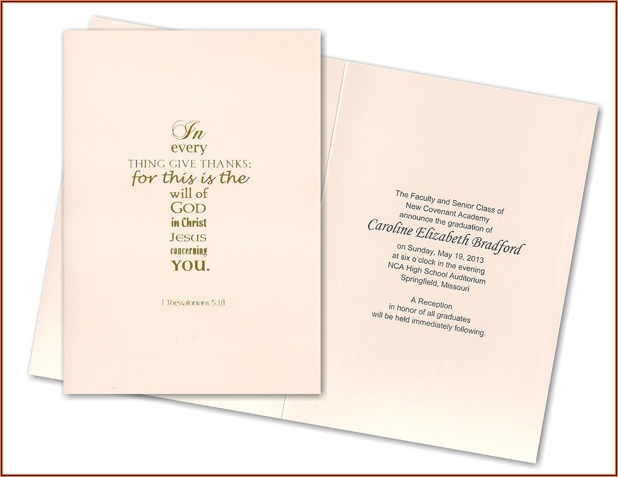 Verses For Graduation Announcements