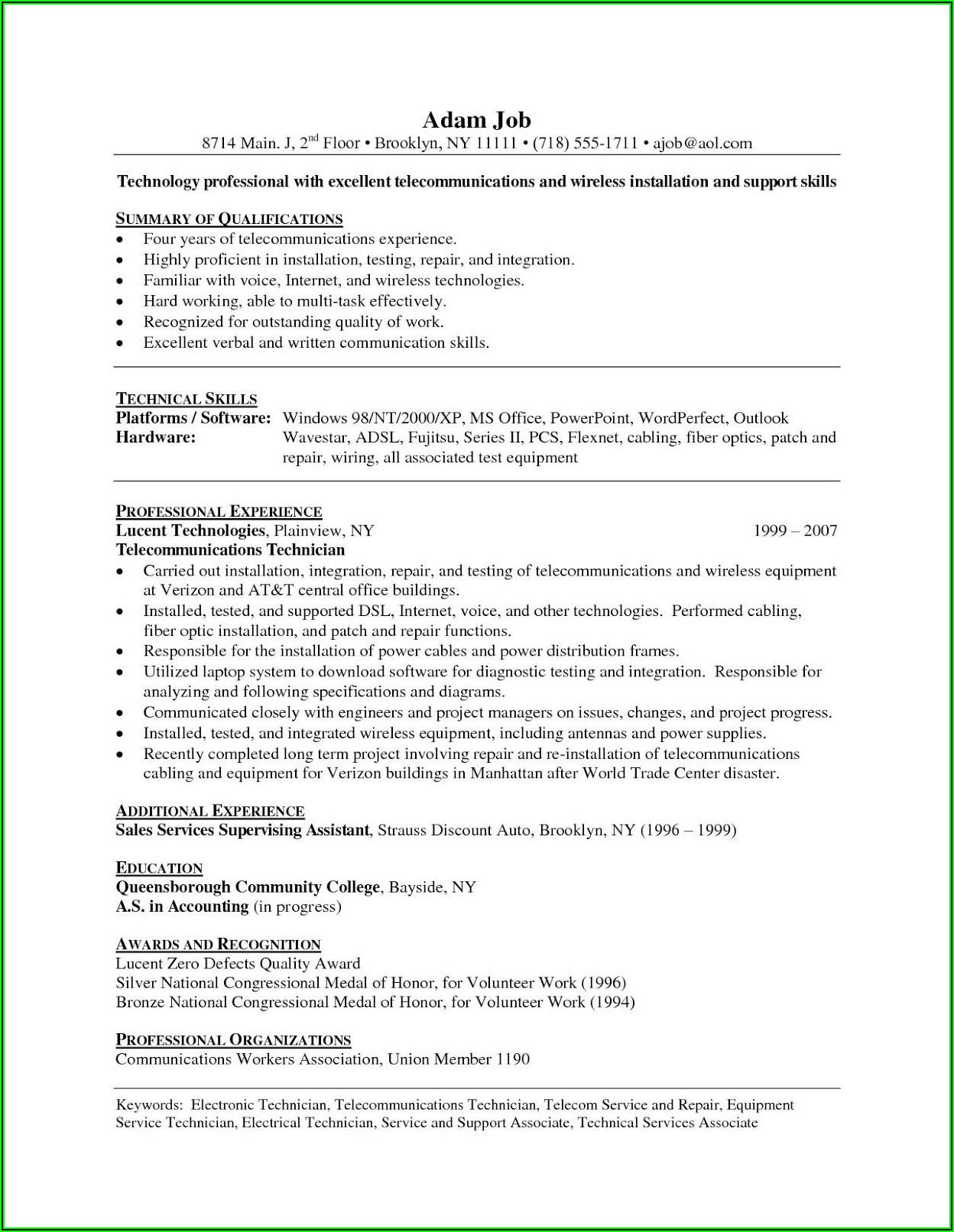 Vet Tech Resume Samples