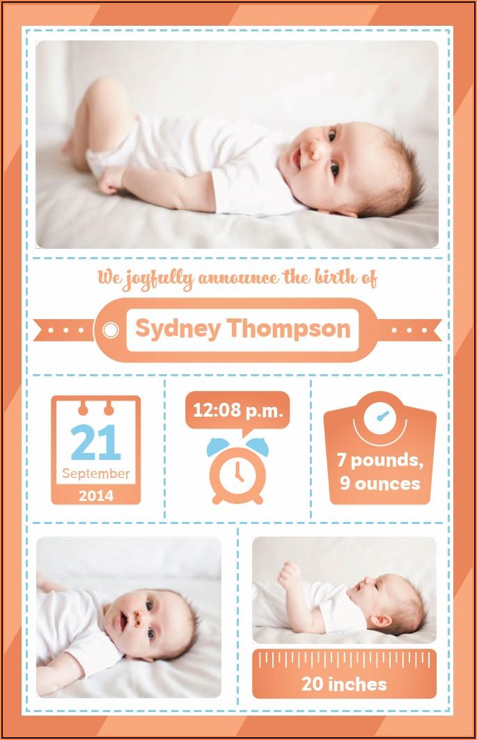 Vistaprint Birth Announcement Cards