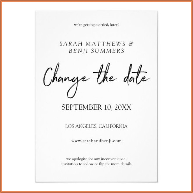 Wedding Announcement Cards Templates