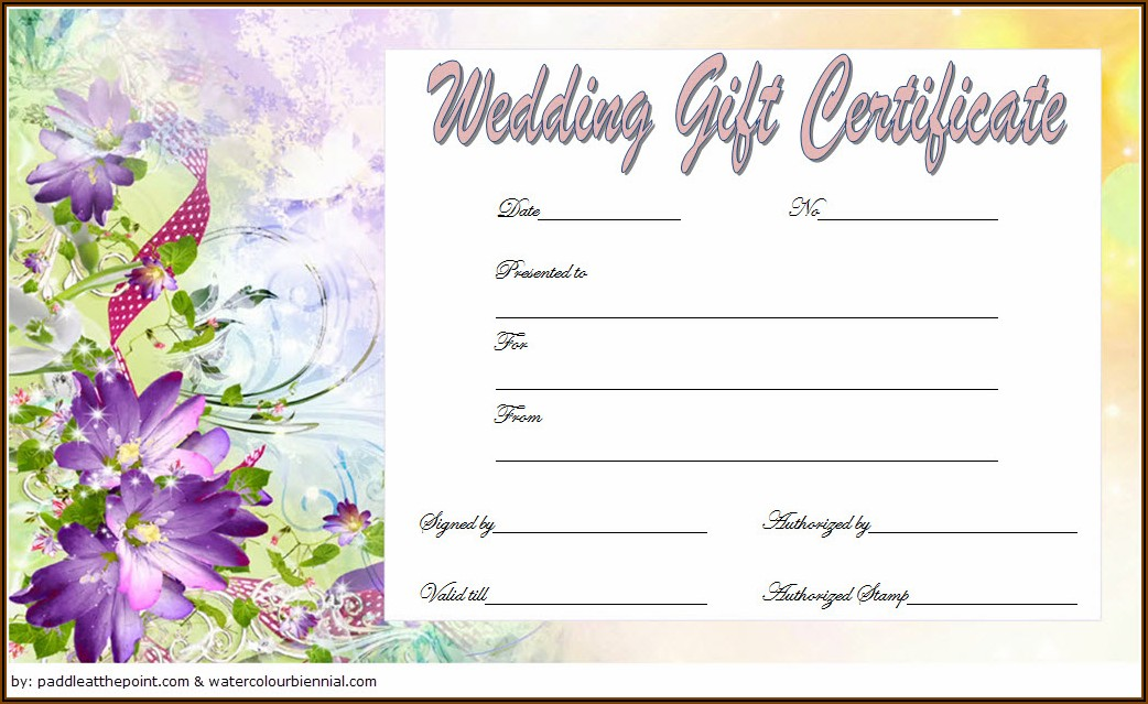Wedding Gift Card Design Template Free Download