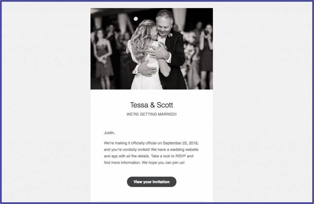 Wedding Invitation Email Format For Office