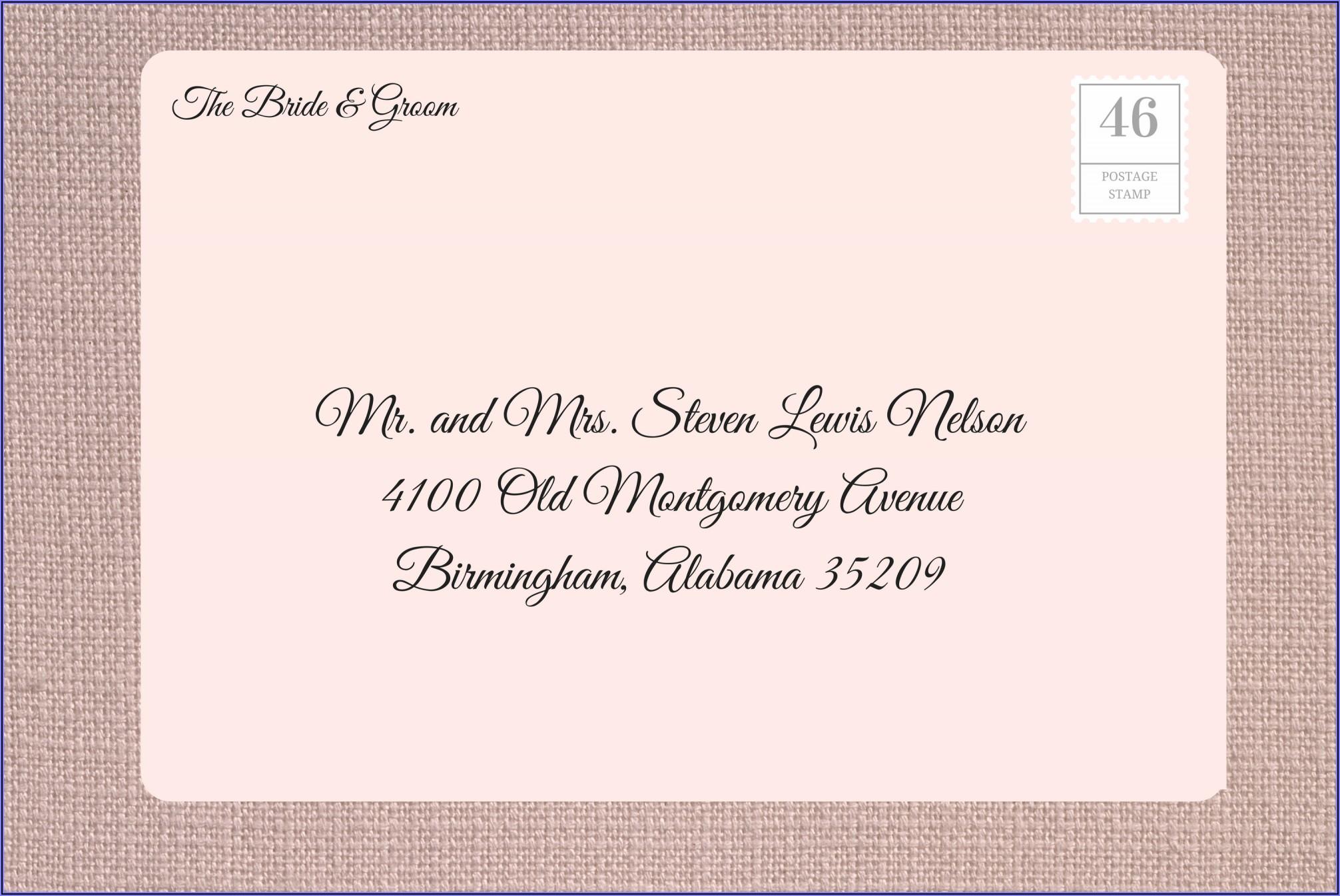 Wedding Invitation Mailing Etiquette