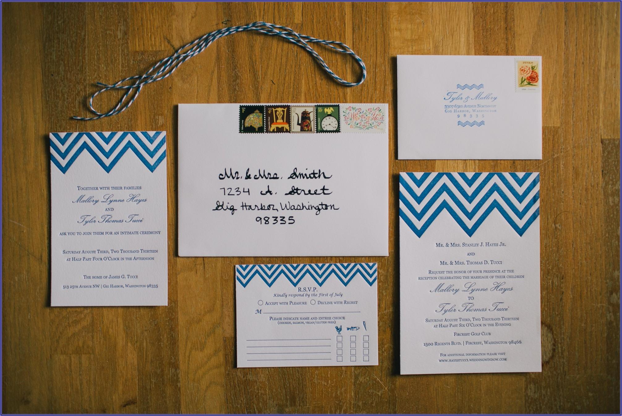 Wedding Invitation Rsvp Envelope Etiquette