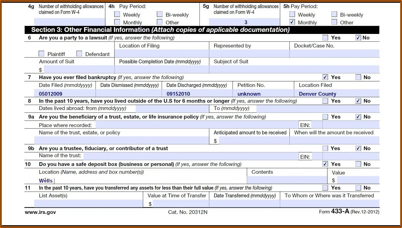 Where Should I Mail Irs Form 433 D