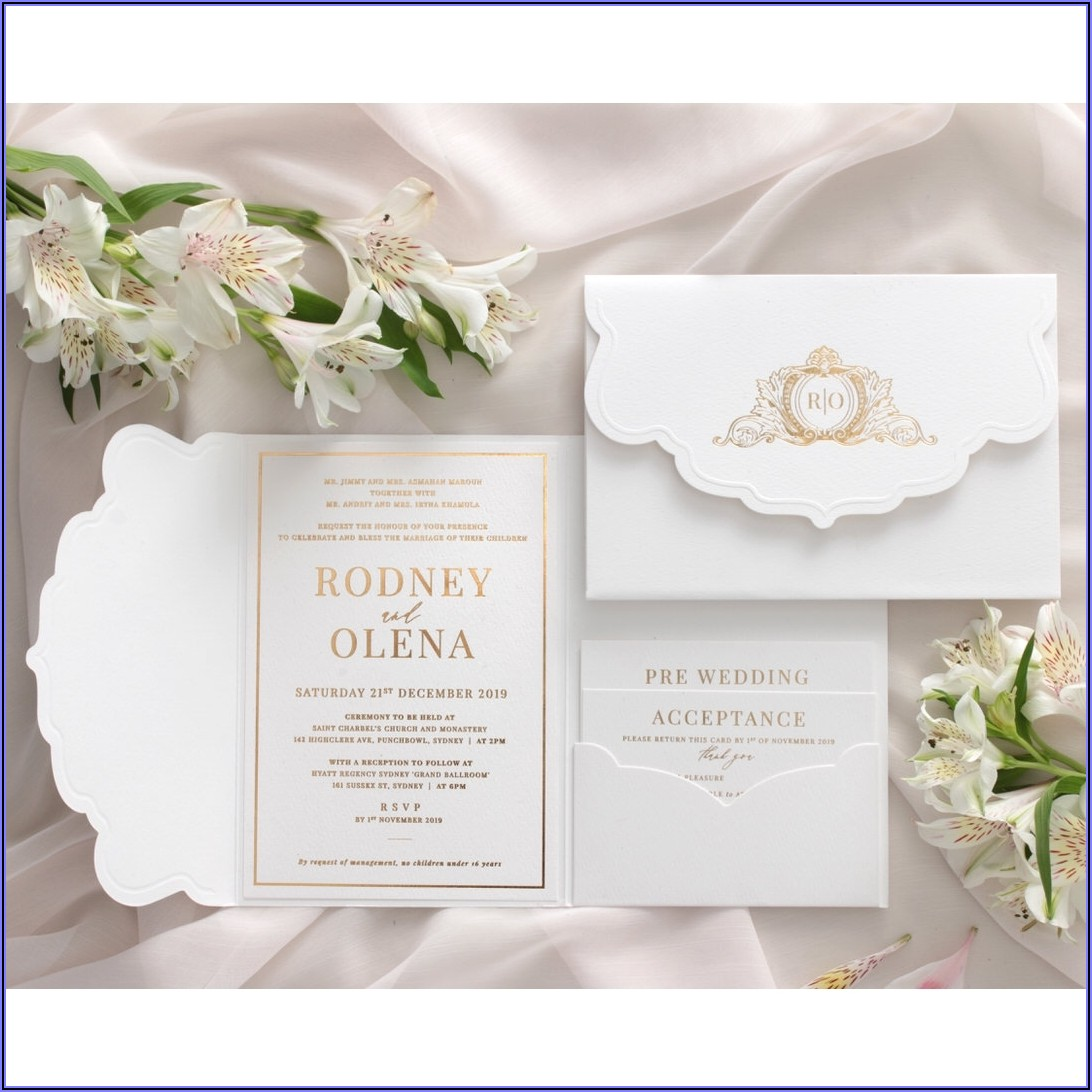 White And Gold Wedding Invitations Uk