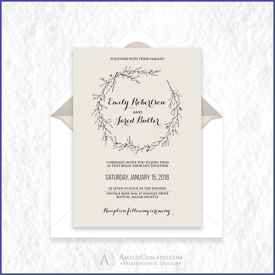 Wilton Wedding Invitations Templates