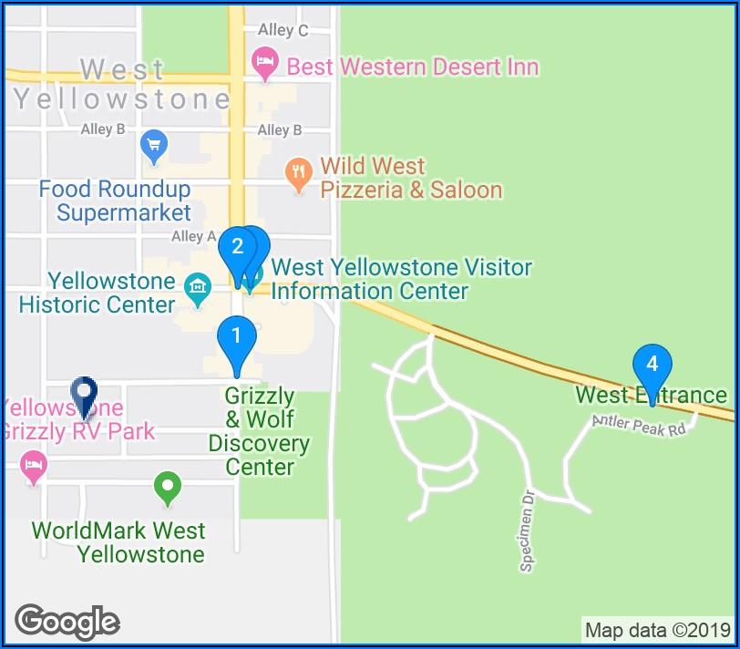 Yellowstone Hotel Map