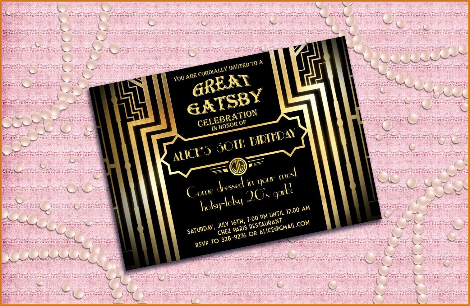 1920s Party Invitation Template Free