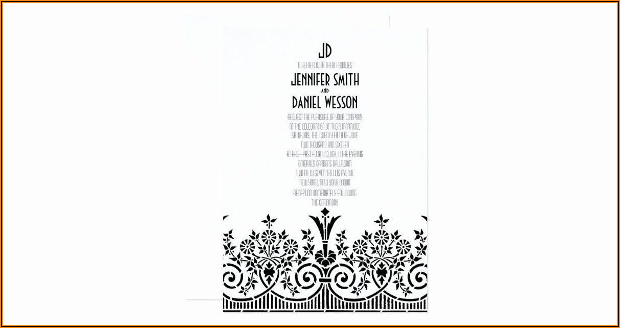 1920s Party Invitation Template
