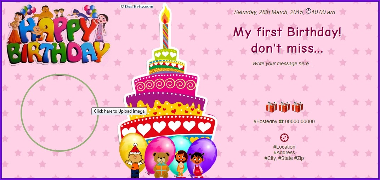 1st Birthday Invitation Message In Tamil