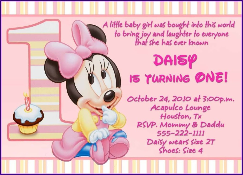 1st Birthday Invitation Quotes For Daughter