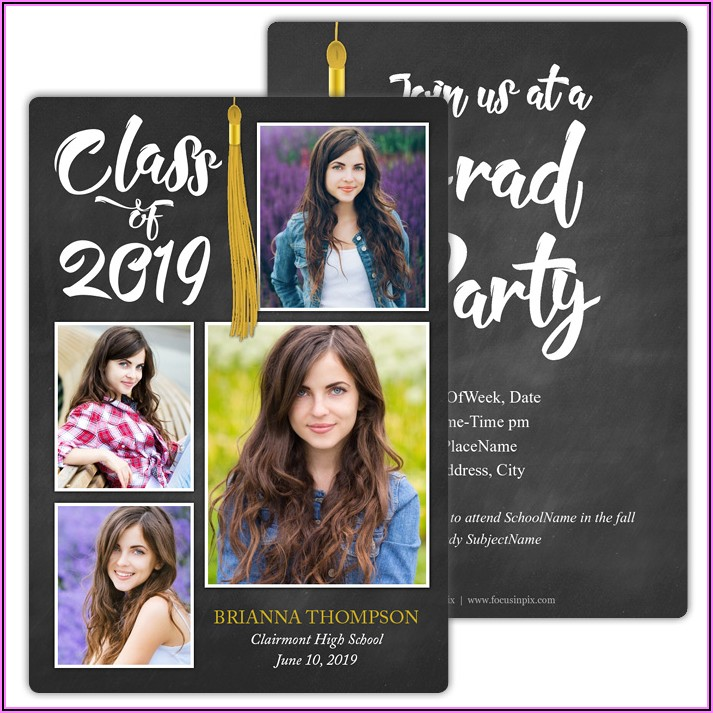 2 Sided Photo Graduation Announcements