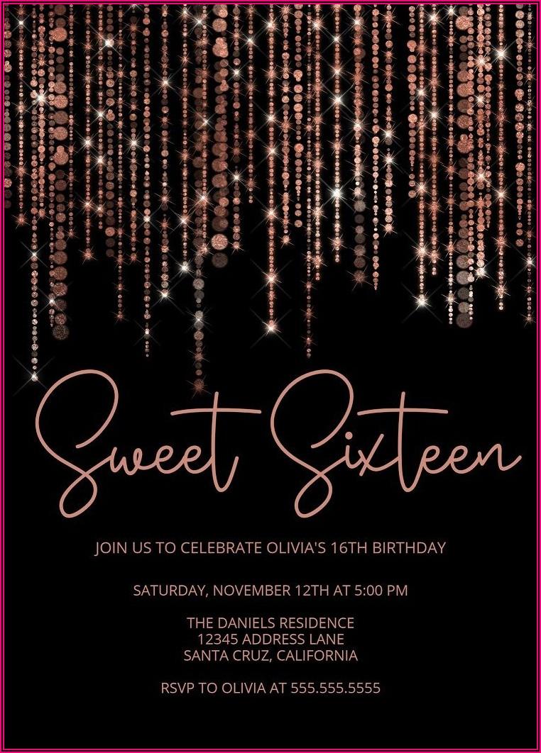 21st Birthday Invitations Templates Rose Gold
