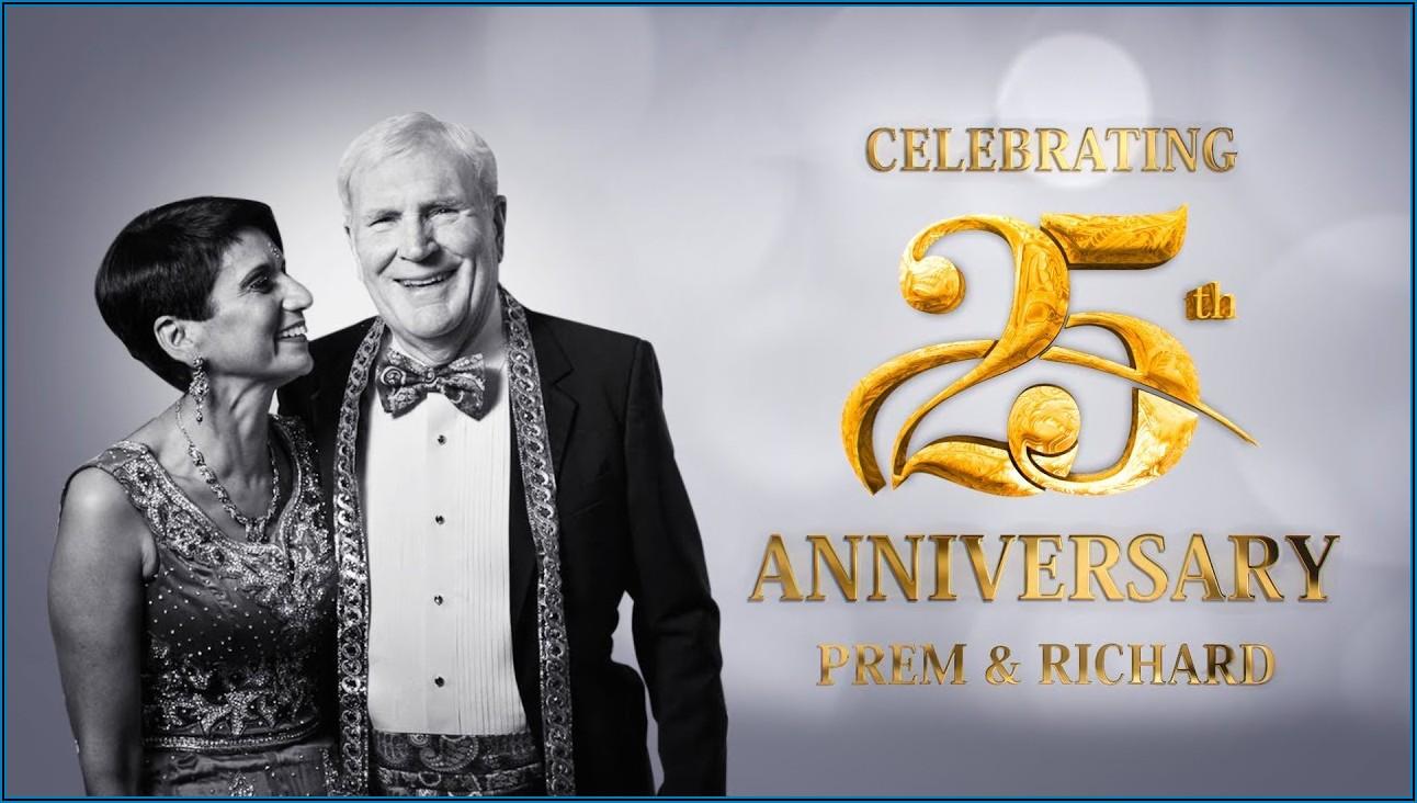 25th Anniversary Invitation Video Templates