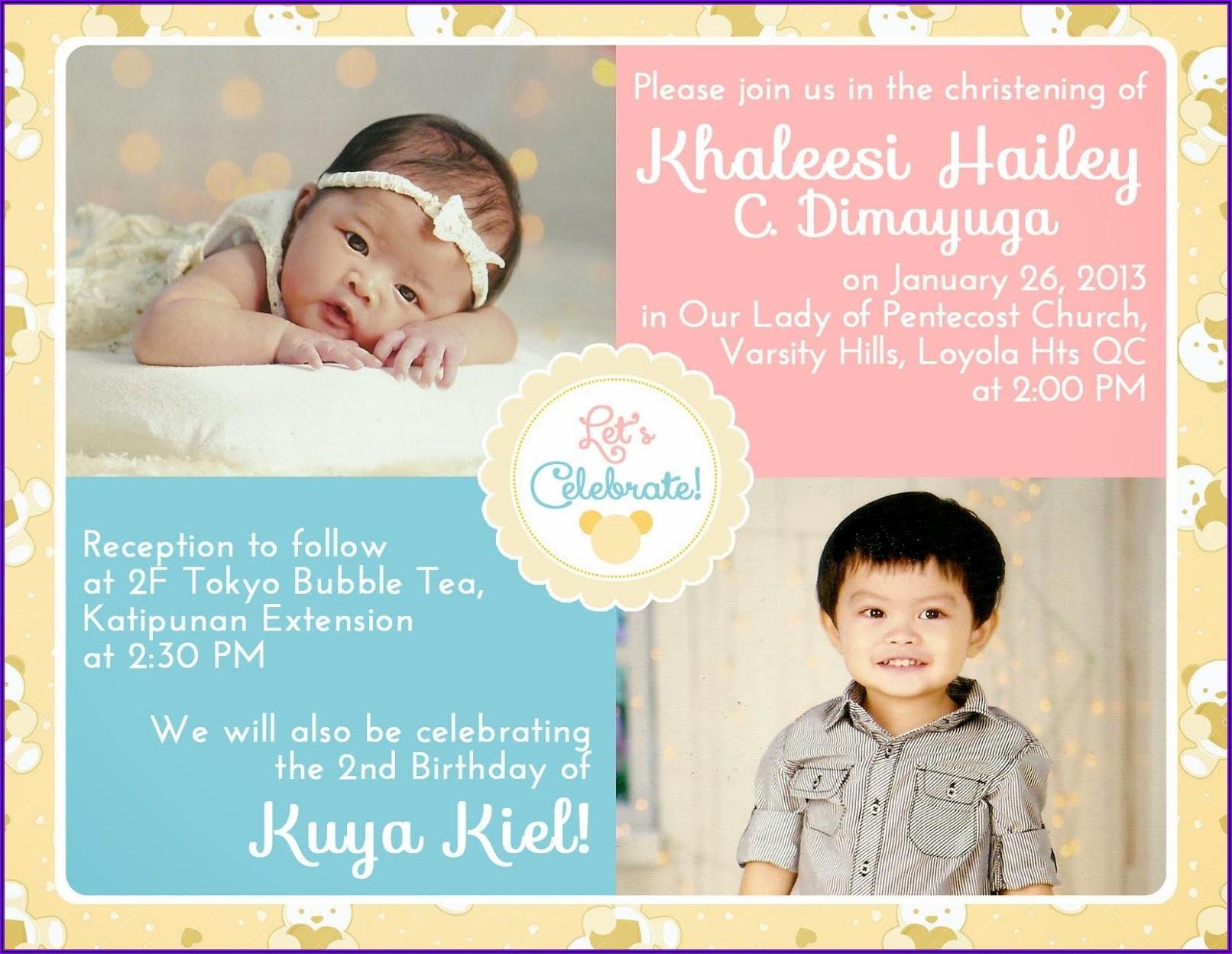 2nd Birthday Invitation Message For Baby Boy