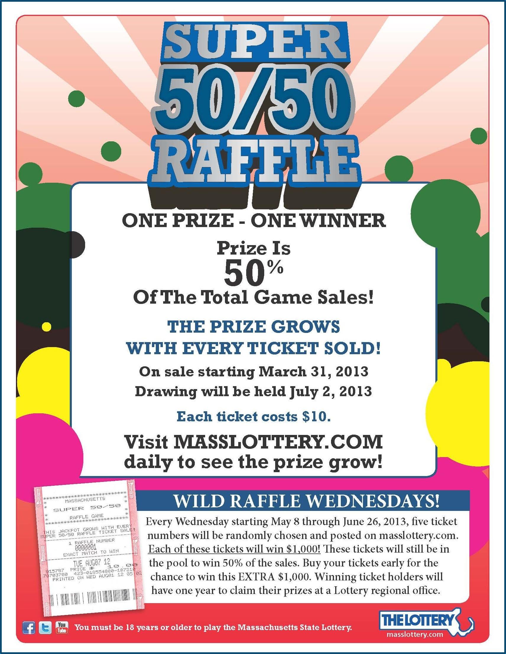 50 50 Draw Ticket Templates Free