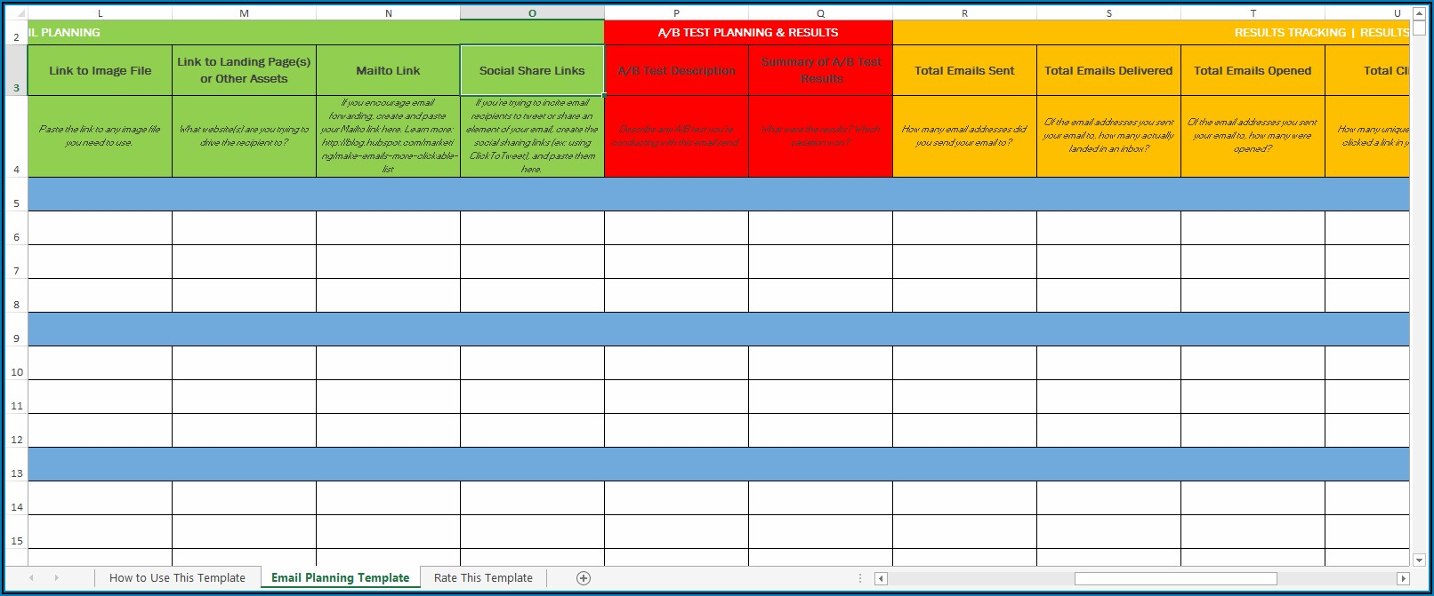 Advertising Campaign Schedule Template