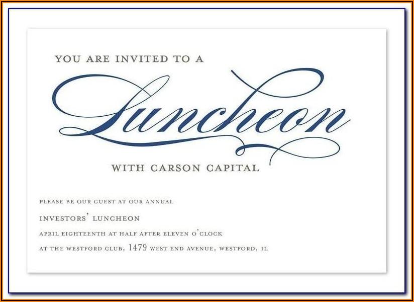 Appreciation Lunch Invitation Template Word