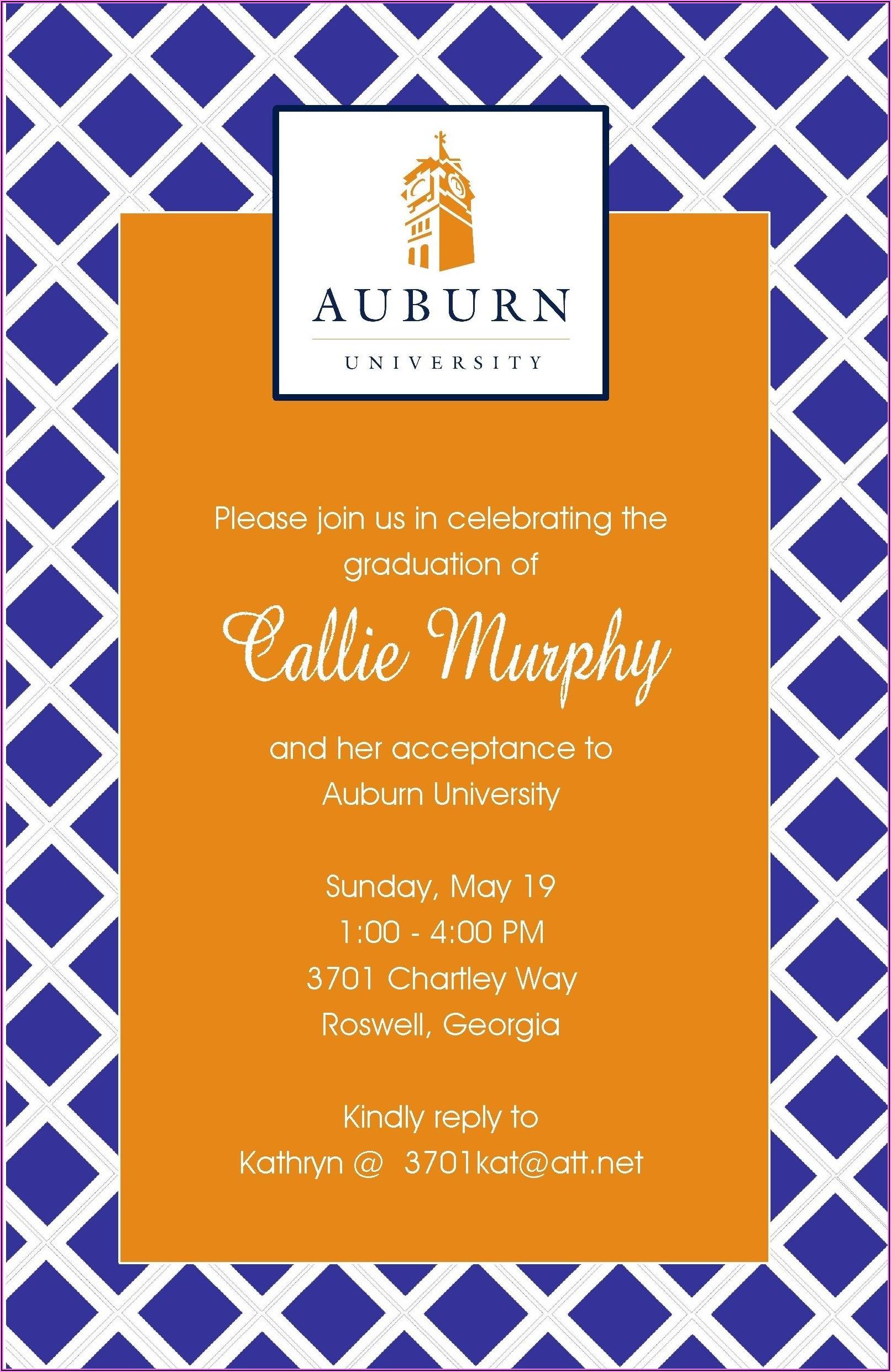 Auburn University Graduation Announcements