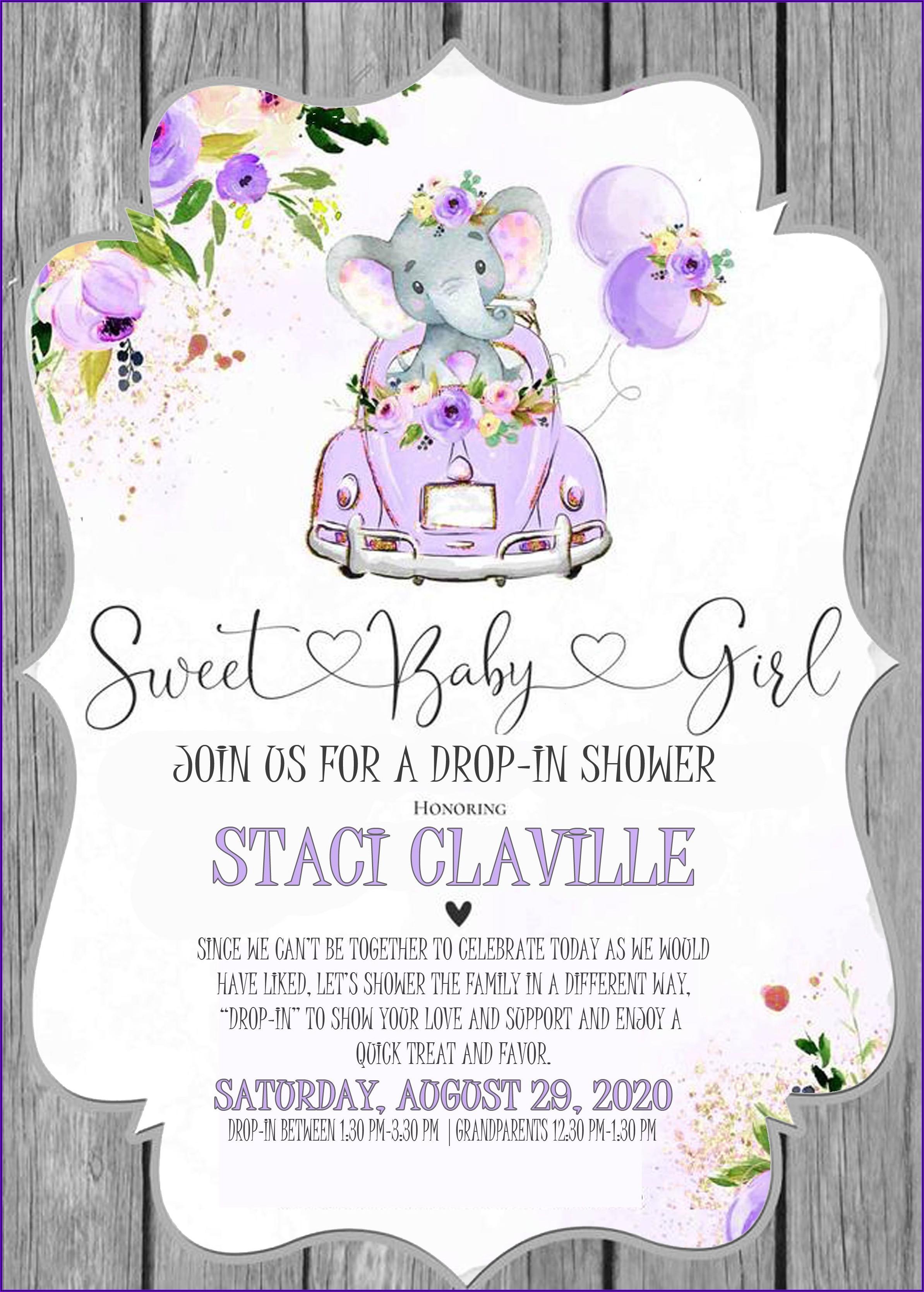 Baby Girl Sprinkle Shower Invitations