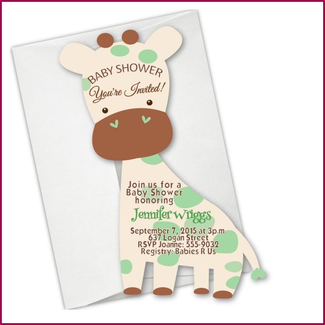 Baby Shower Elephant Theme Boy Invitations