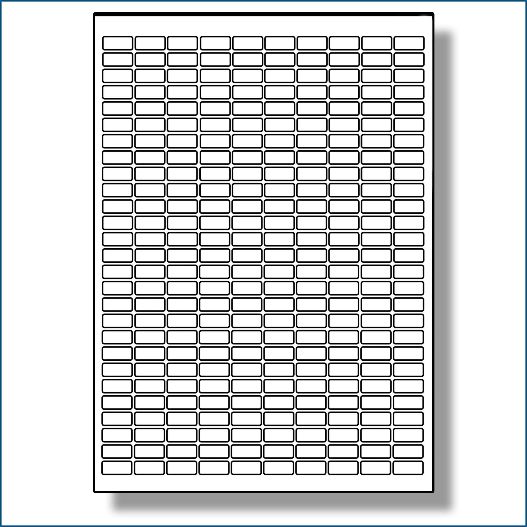 Banner Labels 18 Per Sheet Template