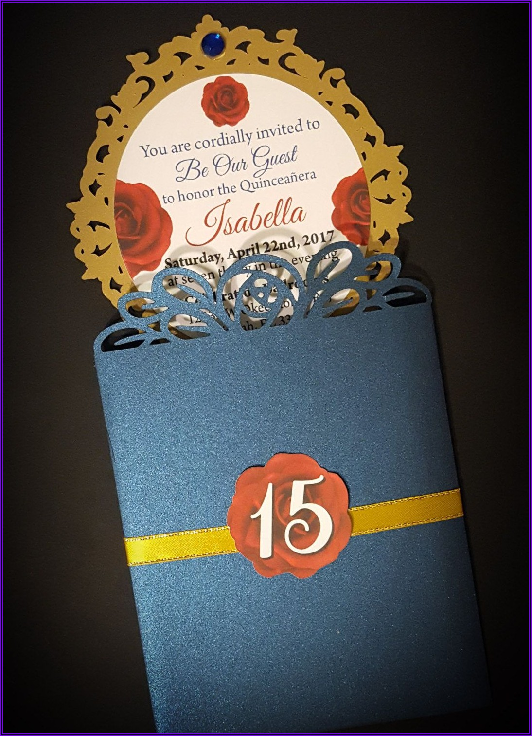 Beauty And The Beast Quinceanera Invitations