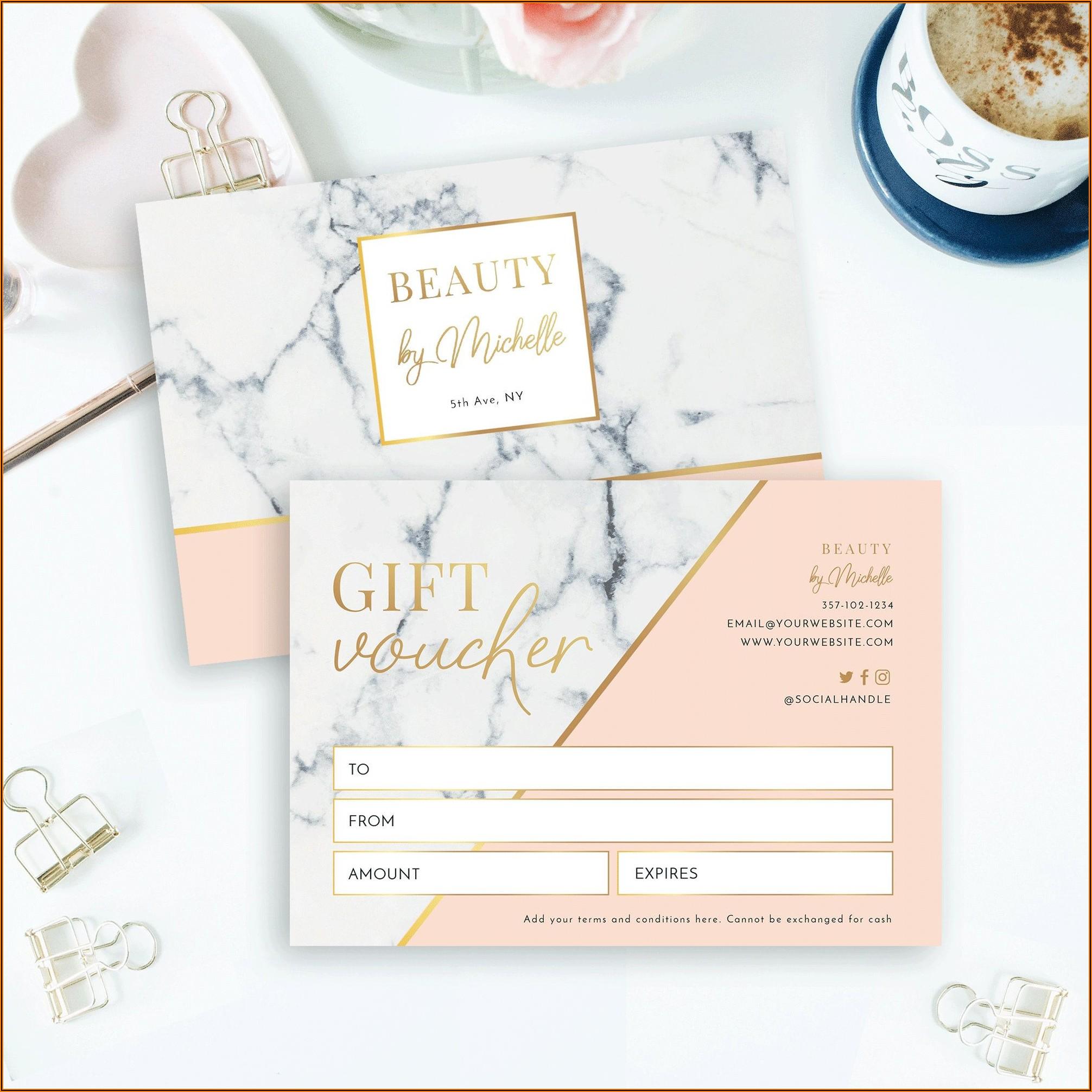 Beauty Gift Vouchers Templates