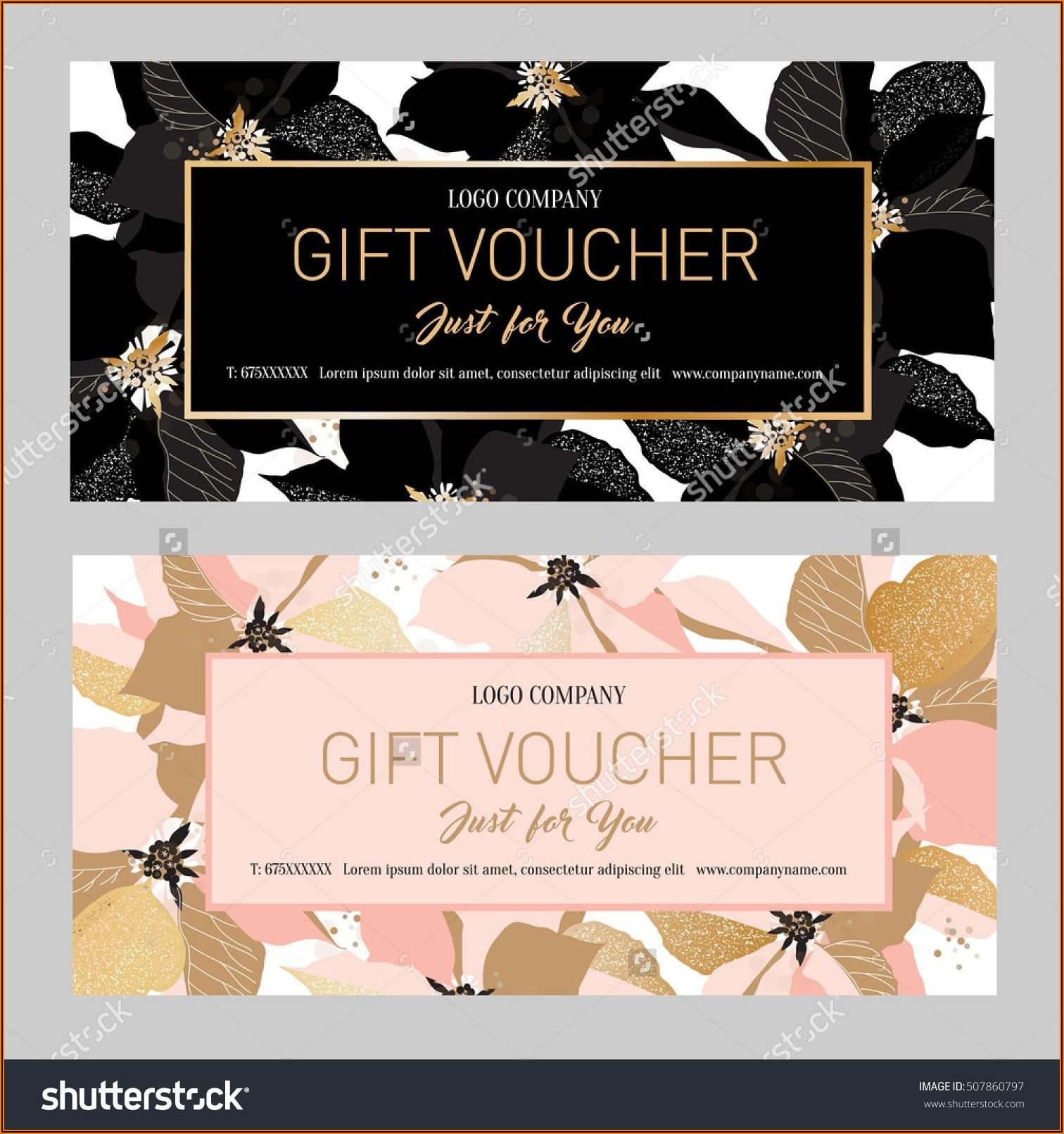 Beauty Salon Gift Vouchers Templates