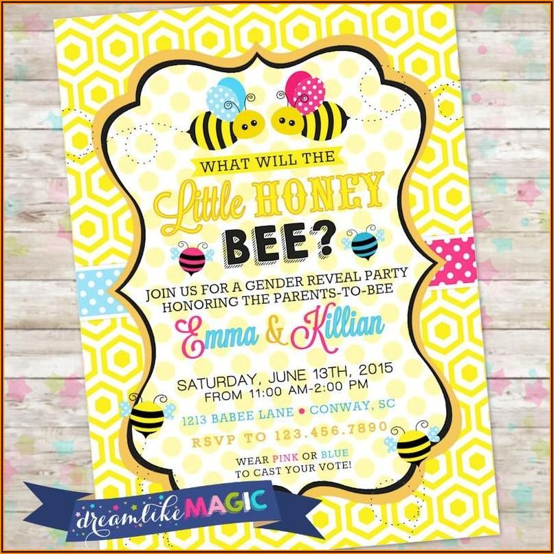 Bee Gender Reveal Invitations Online