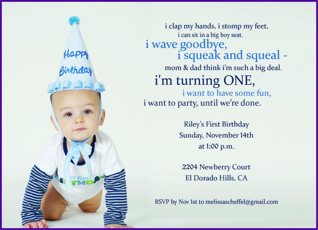 Birthday Invitation Quotes For Baby Boy