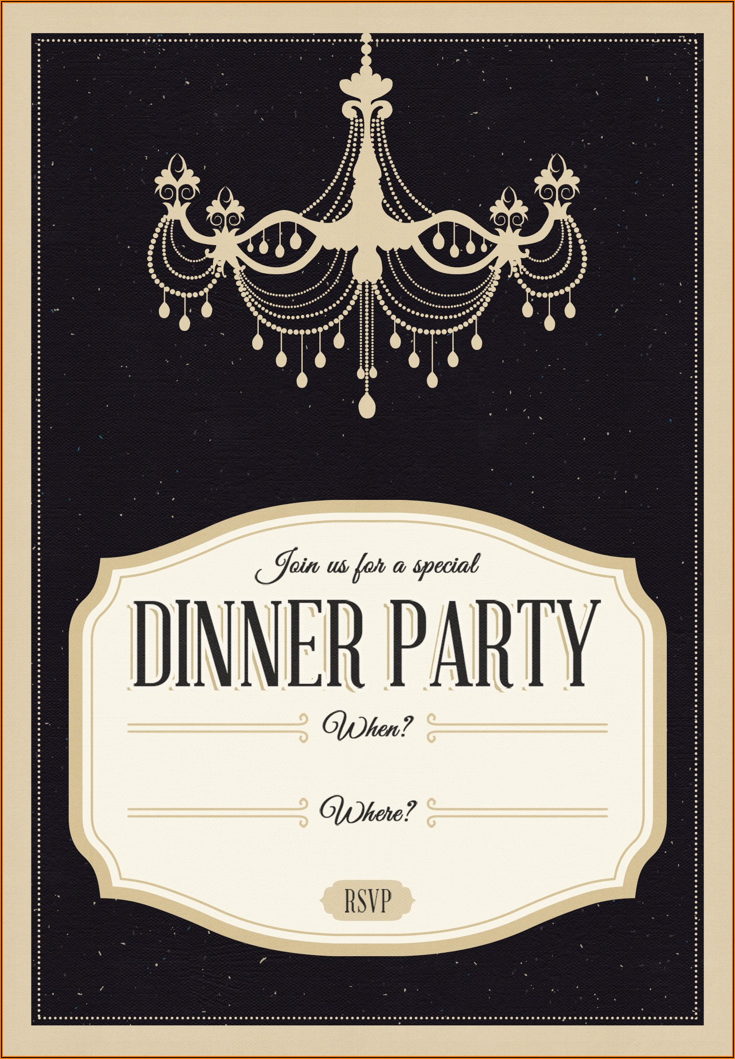 Birthday Meal Invite Template