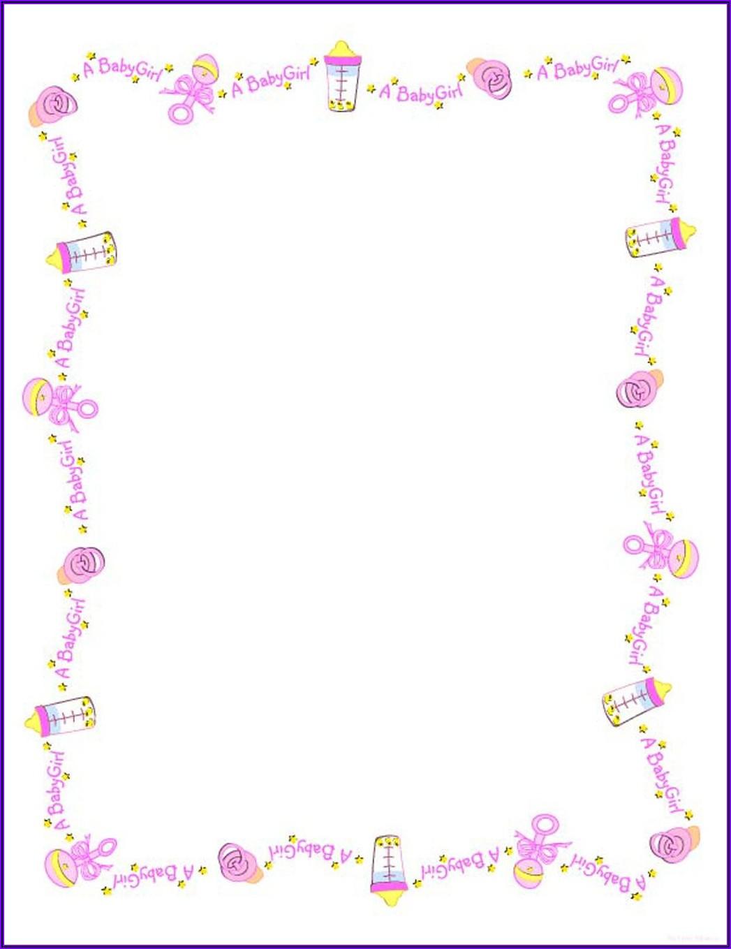 Blank Baby Moana Invitation Template Free