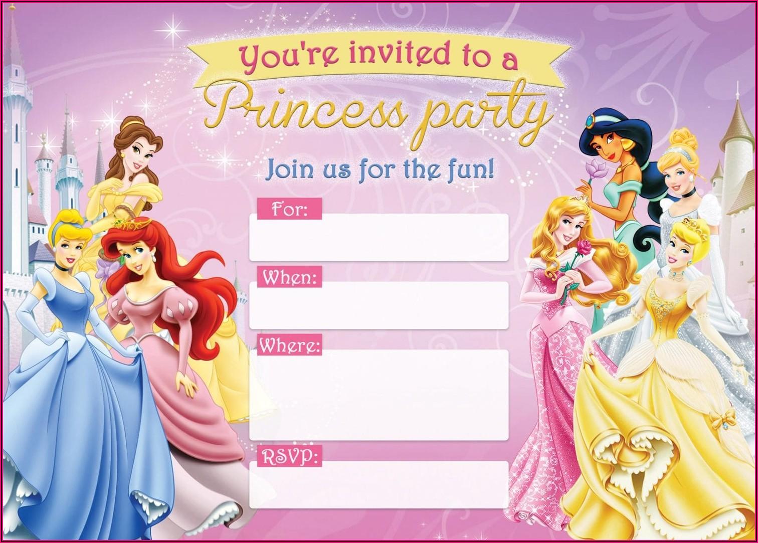 Blank Princess Invitation Template