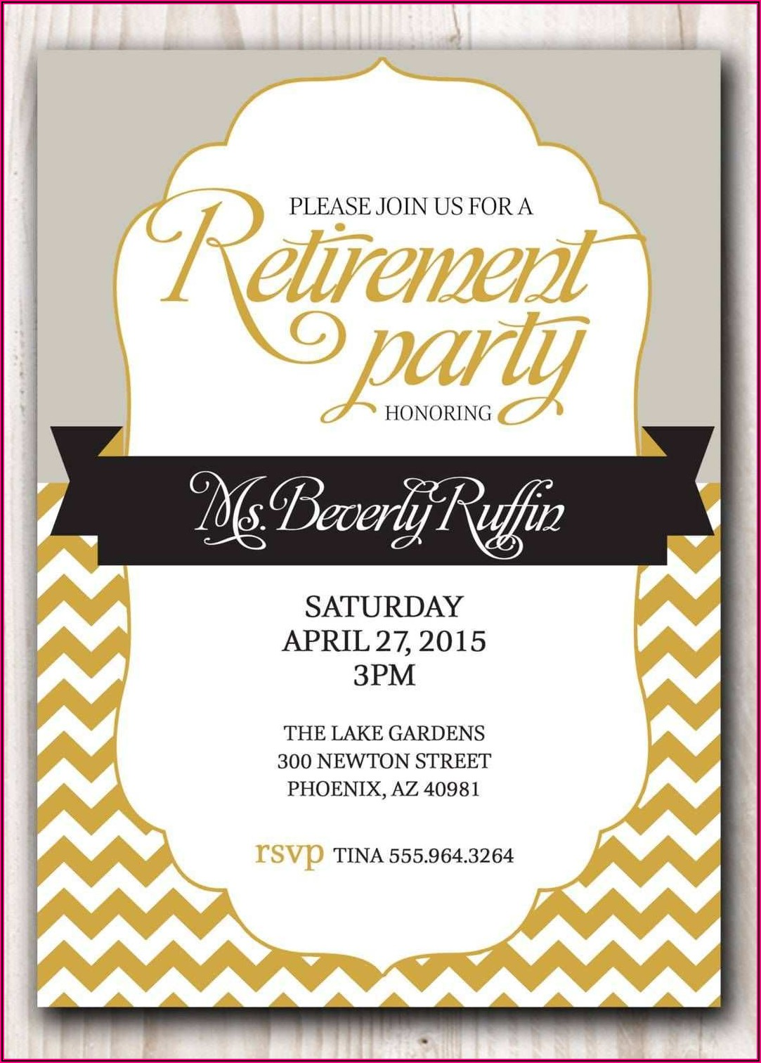 Blank Retirement Invitation Template