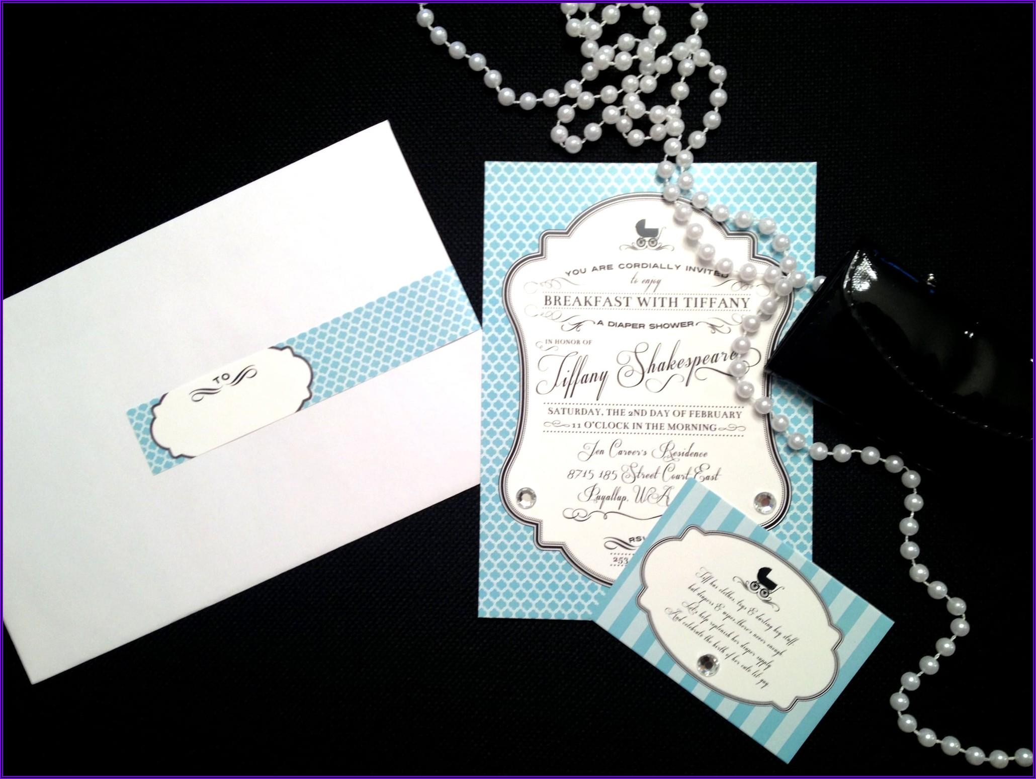 Breakfast At Tiffany's Baby Shower Invitations