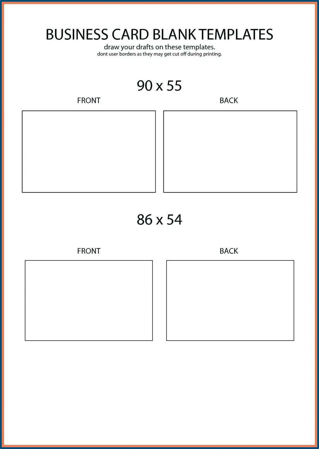 Business Card Template For Printing