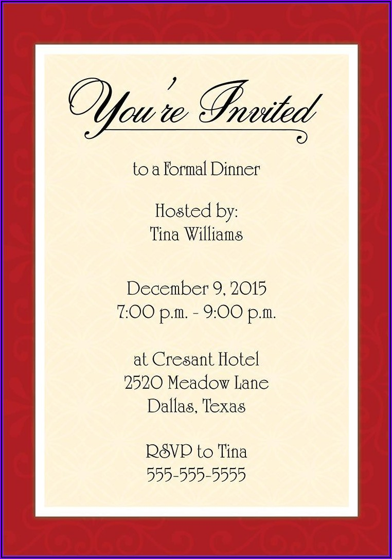 Business Lunch Invitation Message