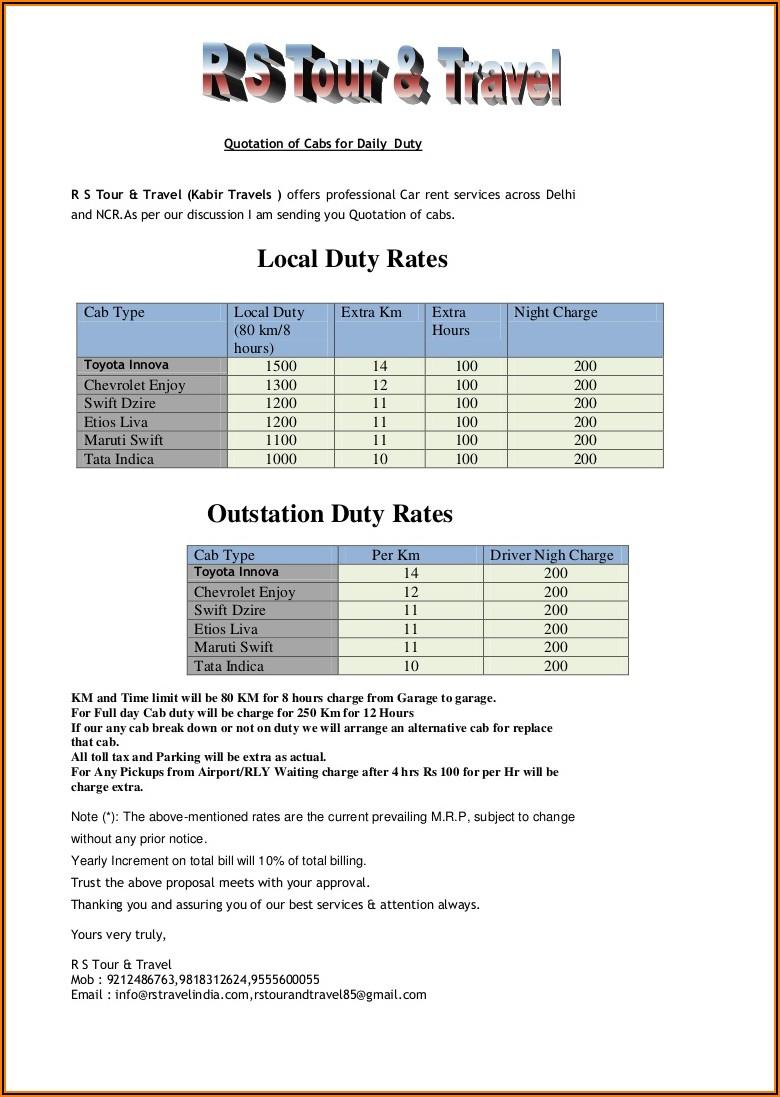 Car Rental Invoice Format