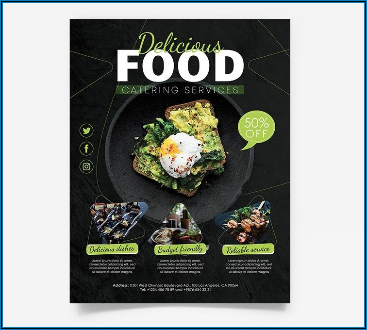 Catering Flyer Template Free