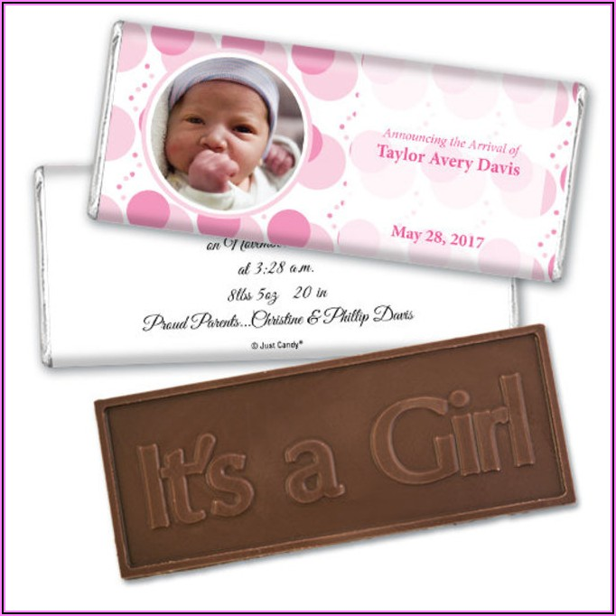 Chocolate Bar Baby Announcements