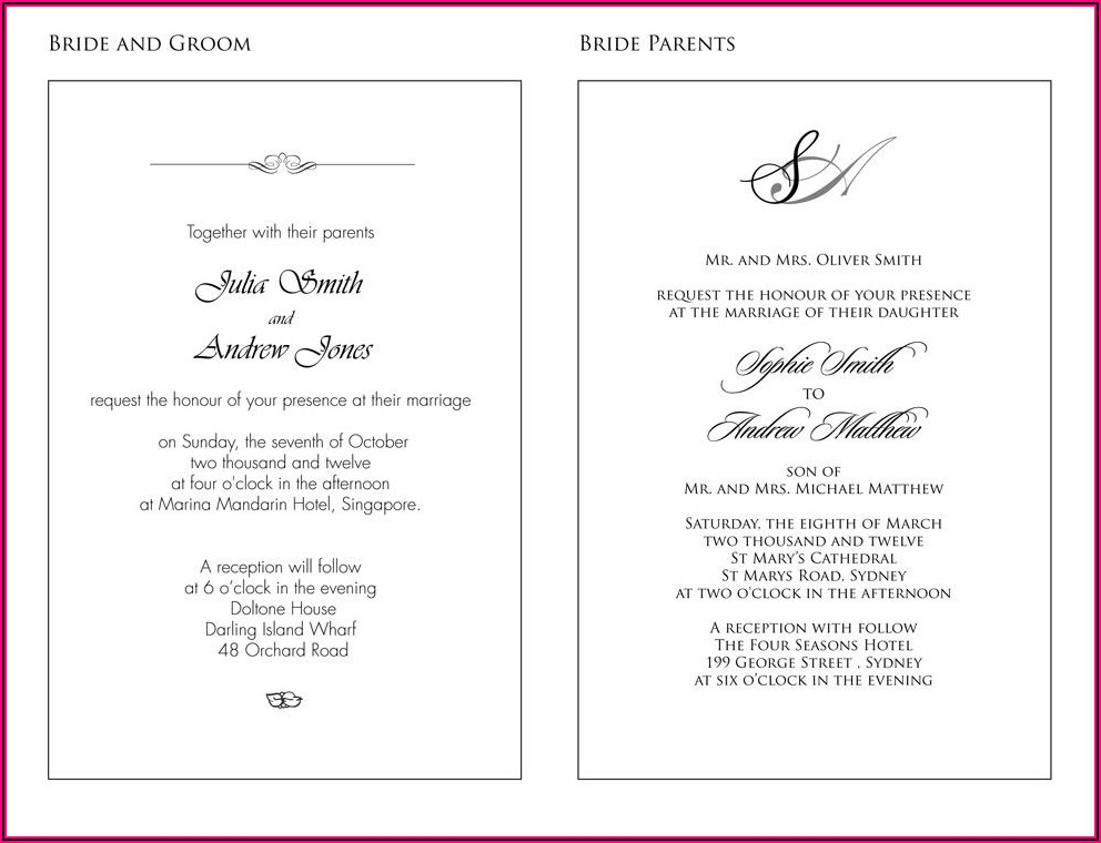 Christian Wedding Invitation Wording In Spanish