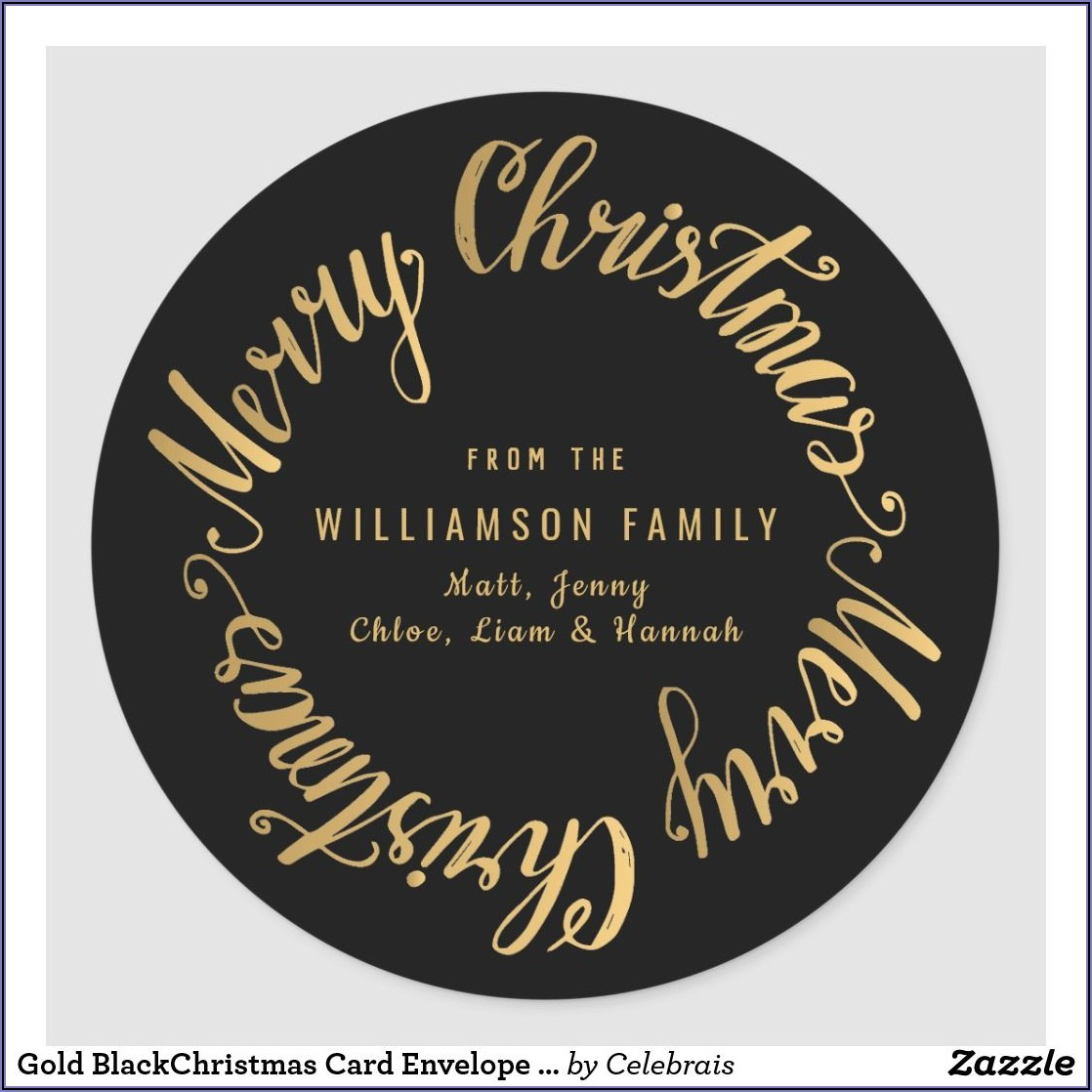 Christmas Card Address Labels Template