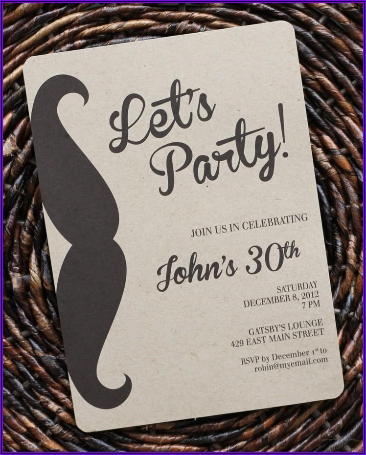 Classy 21st Birthday Invitations