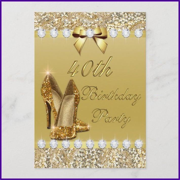 Classy 40th Birthday Invitations