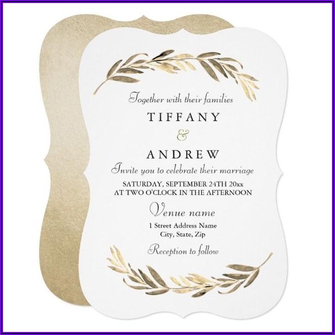 Classy Birthday Invitation Card